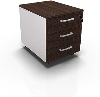 Cajonera de oficina con ruedas, mesita de noche móvil con tres cajones, armario de oficina, montaje fácil, 42 x 56 x 51 cm