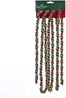 Kurt Adler 9' Decorative Red, Green and Gold Twisted Bead Christmas Garland - Unlit
