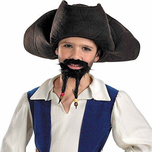 Pirates of the Caribbean Pirate's Hat with Moustache and Goatee - Child Size