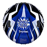 TOYANDONA Snow Tube,47 Inch Round Inflatable Snow Sled for Kids and Adults,Snow Tube with Handles,Heavy Duty Snow Sled