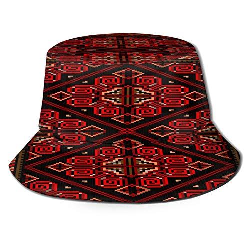 fudin Sombrero de Pescador Unisex Alfombra Brillante Estilo Antiguo Rojo Borgoña Plegable De Sol/UV Gorra Protección para Playa Viaje Senderismo Camping