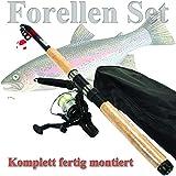 FORELLEN ANGELSET ALLROUND Einsteiger komplett SET KINDER Rute + Rolle + Tasche + Zubehör ü5ü 529...
