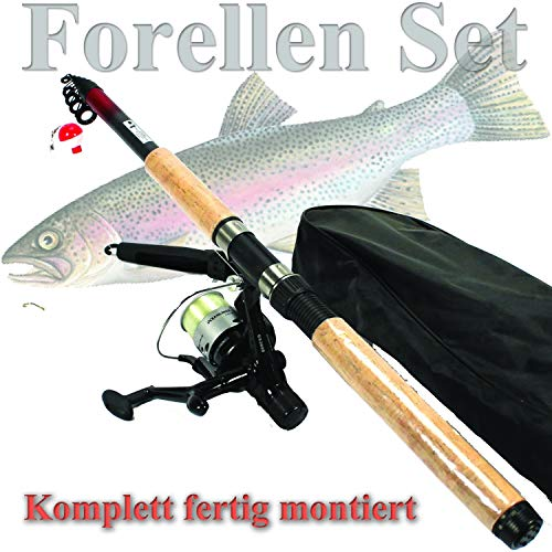 FORELLEN ANGELSET ALLROUND Einsteiger komplett SET...