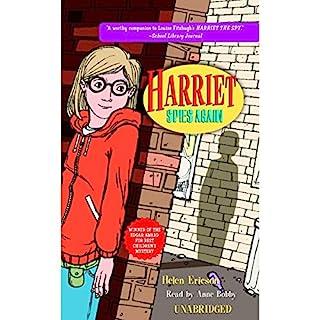 Harriet Spies Again audiobook cover art