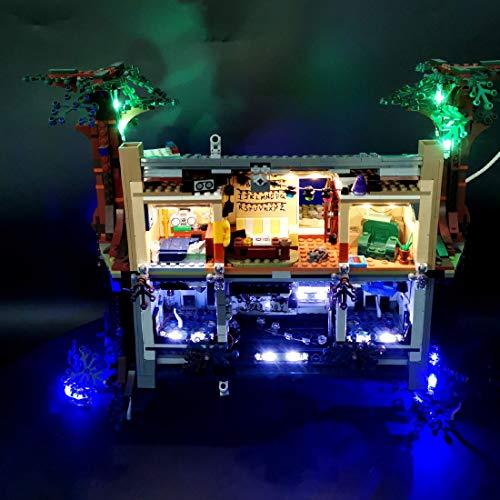 Lommer Kit de luz LED para Lego Stranger Things The Upside Down 75810, kit de iluminación para Lego 75810 (no incluye modelo Lego)