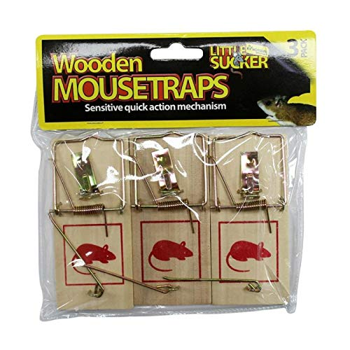 Smart Value Wooden Mouse Trap 3 Pack