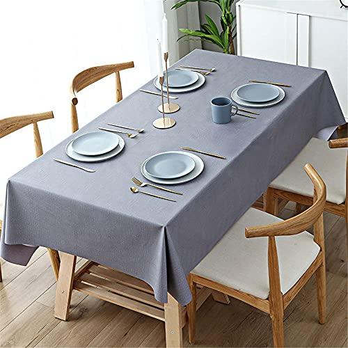 ROMDEANK Mantel Hule rectángulo Accesorios Cocina PVC Impermeable Resistente al Aceite Manteles de Plástico para Mesas Comedor Cocina jardín Mantel Uso Interior y Exterior110CM X 160CM