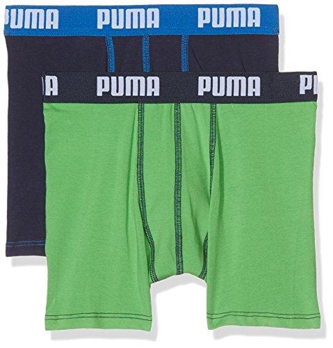 PUMA Jungen Basic Boxer 2P Boxershorts, Green/Blue, 164