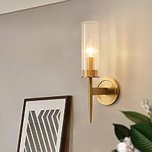 Wall Lamp - Creative Personality Art Wall Lamp, Lamp Brass Wall Lamp, Glass Lampshade, Full Copper Lamp Body,E14*1,40 * 13...