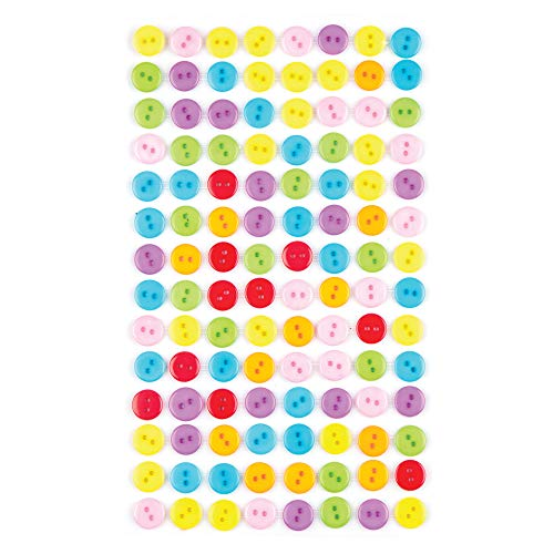 Baker Ross Bottoni Colorati Autoadesivi per Bambini, per Lavoretti e Creazioni Fai Da Te (Confezione da 112)
