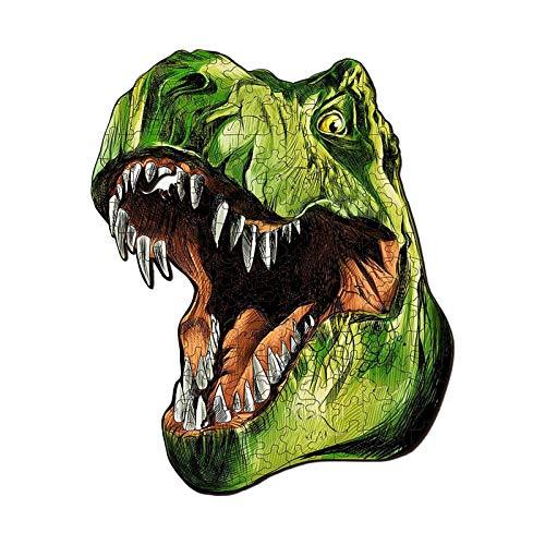 knobelspiele Dinosaurier Holzpuzzle Einzigartige Formstücke Tier für Erwachsene und Kinder A5 Dinosaurier-Nähte Ganzseitiges Linde-Tier-Puzzle Holz-Dinosaurier-Erwachsenen-Block-Puzzle