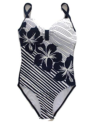 Printing Slim Slimming high-end Atmosphere one-Piece Swimsuits,Indigo Color,6XL