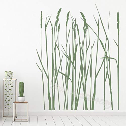 sanzangtang Lange gras bloem boom muur stickers lange riet decoratie woonkamer bank achtergrond slaapkamer muursticker kinderen muurschildering