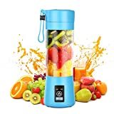 Geohee Personal Blender, Smoothies Mini Jucier Cup USB Rechargeable and Personal Size Blender Shakes,380ml,Fruit Juice,Mixer
