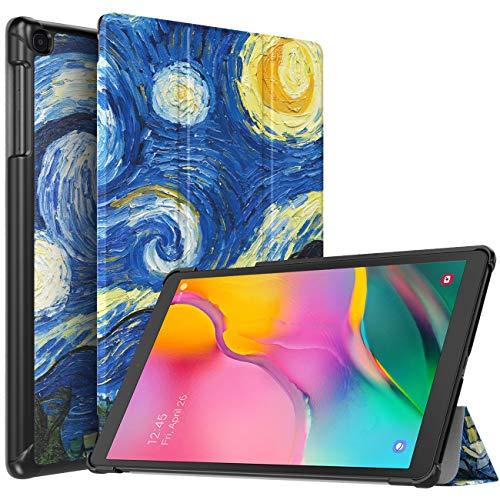 TiMOVO Funda Compatible con Samsung Galaxy Tab A 10.1 2019 (T510/T515), Funda Ultra Fina y Liviana Cubierta Cover(No Adapto para Tab A 10.1 2016 (T580/T585)) - Noche Estrellada