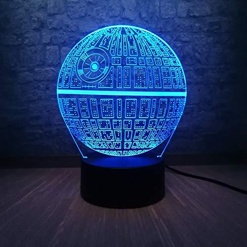 Todesstern DS-1 Plattform Ultimative Waffe 3D Tischlampe Kinder Spielzeug Geschenk LED Multicolor Teen Zimmer Nachtlicht Kinderspielzeug Urlaub