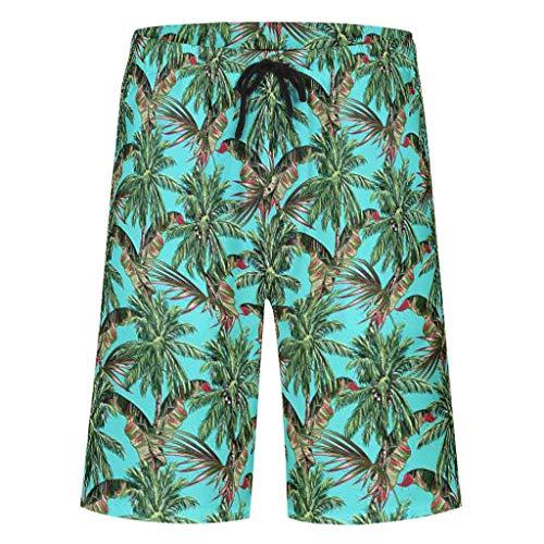 Bannihorse heren zwembroek vrije tijd broek zomer strandmode sneldrogend zwemshorts zwempak zwembroek shorts met verstelbare trekkoord zakken zonder binnenslip