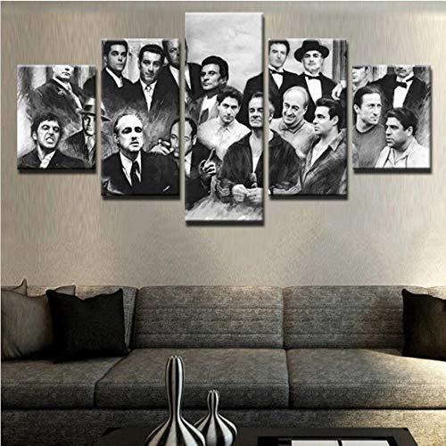 IKLOP 5 Paneles Cuadros En Lienzo Imágenes Decorativas 5 Impresiones en Lienzo 5 Piezas Lienzos Wall Cuadros Mafiosos Canvas Pictures Poster Home Wall Decor Artwork Mural Foto