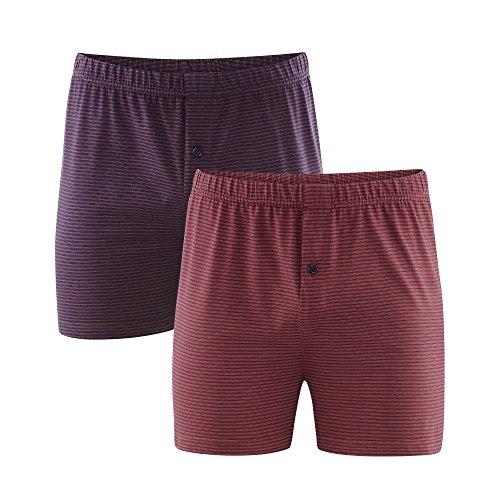 Living Crafts Boxer-Shorts, 2er-Pack 7, Dark Navy/Ruby