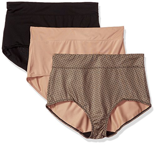 top 10 warners womens underwear Warner Bliss Full Benefit Muffin Black / Toast Almond / Three Panties Without Lace…