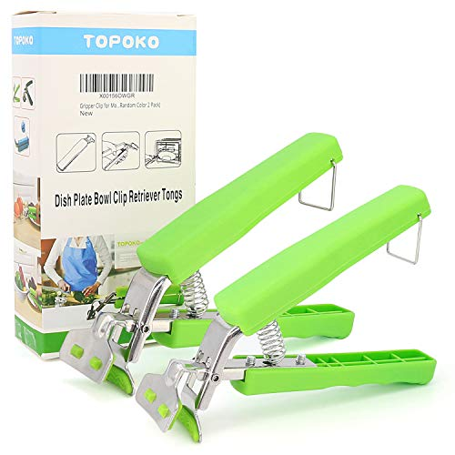 Set of Two Gripper Clips for Moving Hot Plate or Bowls with Food Out, from Pressured Cooker, Microwave, Oven, Air Fryer.