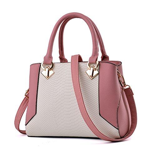 Nevenka Women Bags Handbag Shoulder Bags Fashion Crossbody Bags Purse Totes (DARK PINK)