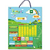 """Magnetic Learning Calendar with Weather Station 55 PCS (15"""" X 12"""" Wall Mountings Ready)"""