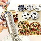WYCJJ Pressa per Uso Domestico Mini Macchina per Pasta in Acciaio Inox pressa Manuale da Cucina Noodle Tools Pressa da Cucina