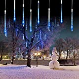 xmas snow falling lights outdoor