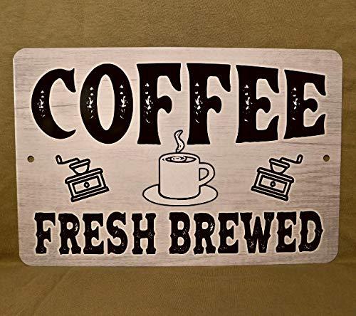 No Branded Cartel de metal para cafés, tienda, bebedor, café, café, café, café, java, cafetera, cafetera, cafetera, cafetera, cafetera, java, cafés, barista, taza de abanico, decoración de cocina