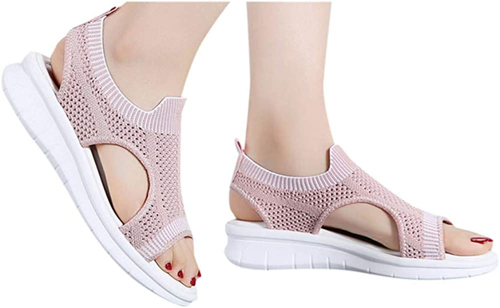 Hemlock Women Open Toe Shoes Hollow Out Breathable Sandals Sports Shoes Summer Outdoor Walking Shoes Sneakers