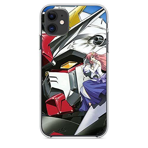 ZMMZ Funda para teléfono móvil Gundam Anime para iPhone 7 8 7Plus 8Plus X XR XS Max 11 11Pro 12 Pro Max 12Mini funda de teléfono, ultrafina, transparente, suave, protectora completa Cov A-XS Max