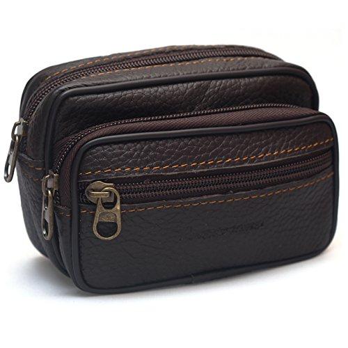 New Mini Men's Leather Waist Belt Loops Bag Coin Pocket Cigarette Case Wallet 0011