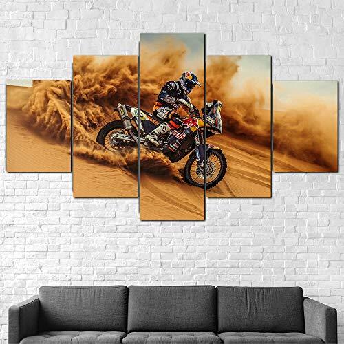 Quadro Moderno Moto Rally Bike Racer Stampa su Tela - Quadro x poltrone Salotto Cucina mobili Ufficio casa - Fotografica Formato XXL