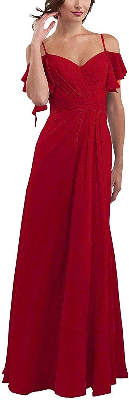 Faironline Sale item Spaghetti Chiffon Bridesmaid Dresses For 2021 autumn and winter new Long Wedding