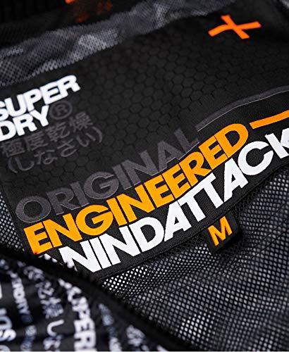 SUPERDRY Technical Hooded Windattacker Chaqueta Hombre Superdry Print/Fluro Orange L