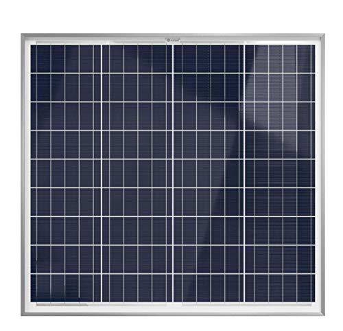 XUNZEL SOLARPOWER panel solar fotovoltaico 60 Watt 12 Volt de alto rendimiento para carga de baterías/caravana/barco/caseta/furgoneta/jardín/electrónica/iluminación