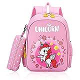 Zaino da bambina LLMZ 1 PCS Zaino per Bambini Carino Animal Backpack per Scuola Materna/Viaggio/Scuola/Picnic/Campeggio