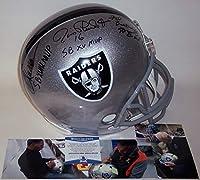 Marcus Allen/Jim Plunkett/Fred Biletnikoff Autographed Hand Signed Raiders Full Size Football Helmet - with SB MVP Inscriptions - BAS Beckett Authentication