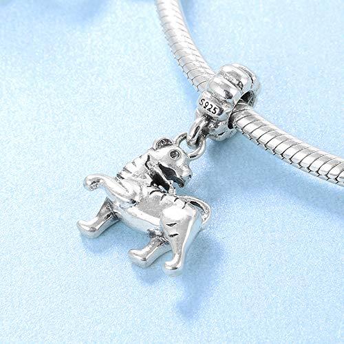 XSZPKL Regalo de Bricolaje 12 Zodiaco Tigre 925 Cuentas Colgantes de P