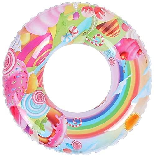 QUQU Inflable Natación Linda Anillo Flotante Inflable Fila Piscina boya de baño Infantil Anillo Piscina Ducha Anillo de Seguridad Auxiliar Flotante Anillo adecuados (Tamaño: 80)