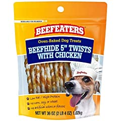 Real Beef #1 ingredient Low fat & high protein No colors or artificial flavors No corn/wheat/soy Oven baked, long lasting treat for dogs Delicious chicken wrapped treat