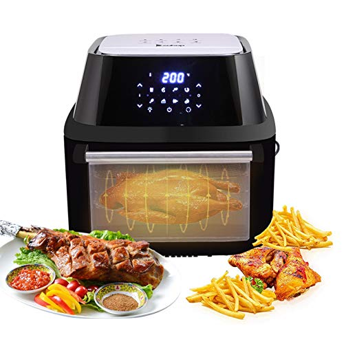 TTSTR Electric Air Fryers with LCD Digital Screen, All-in-one Electric Deep Fryer Oven Rotisserie and Dehydrator for Home Commercial,1