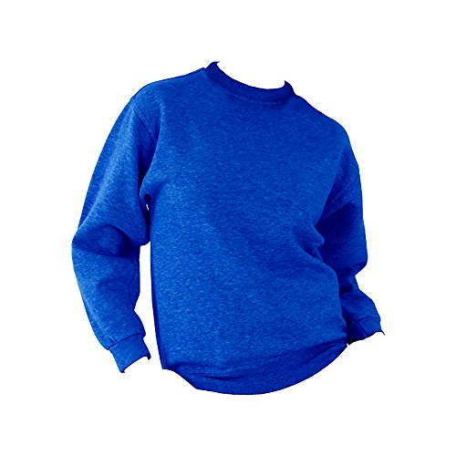 UCC - Sweatshirt uni épais - Adulte unisexe (XL) (Bleu royal)