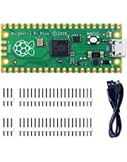 GeeekPi Raspberry Pi Pico Kit フレキシブルマイクロコントローラーミニ開発ボード Raspberry Pi RP2040デュアルコアARM Cortex M0 +プロセッサに基づく 最大133MHzで動作 C/C ++ / Pythonをサポート