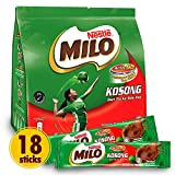NESTLÉ MILO Chocolate Powder - Instant Malt Chocolate Milk Powdered Drink, ORIGINAL - On The Go Fortified Powder Energy Drink - Less Sweet than Milo 3 in 1 - Imported from Malaysia, 18 Sticks