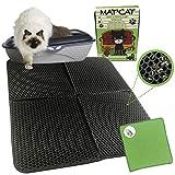 Tapis pour litiere chat, grande taille XL 76 x 60 cm, tapis de litière pour chats, auto-nettoyant, tapis récupérateur de sable, accessoires chats en maison nouvelle version 2021 sans plis
