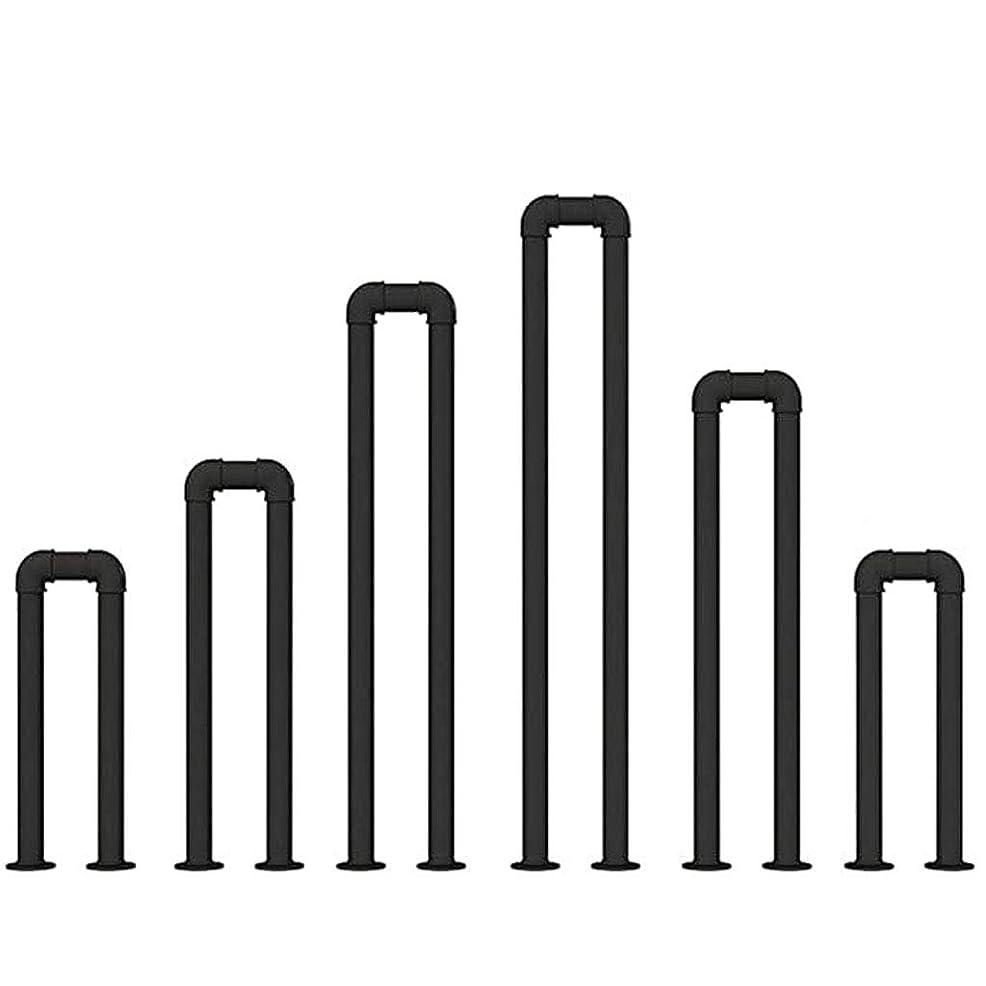 漂流殺人者コスチュームインダストリアルスタイルのU字型の屋内階段の手すり、手すりの階段、水道管のハンドル、高齢者の子供のためのロフトの廊下用のシンプルな小さな手すり