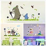 lanlanhone-127 Stickers Muraux De Vinyle De Bande Dessinée D'Animation De Décoration À La Maison pour La Pièce d'enfants Café...