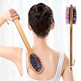 Allshow Back Scratcher, Scratcher with Wood Handle, Wooden Backscratchers for Adult Men & Women, 14.5inches Long, with Two-Side Bristles, Provide Instant Relief from Itching